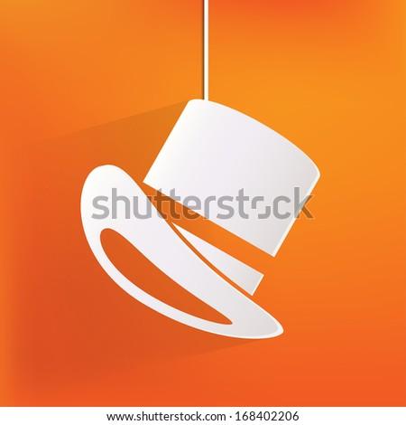 cylinder hat  icon - stock photo