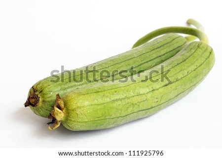 Cylindrica Gourd on white background - stock photo