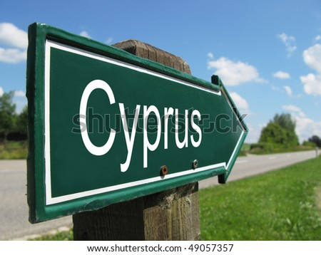 CYPRUS road sign