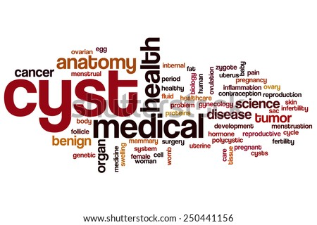 Cyst word cloud concept - stock photo