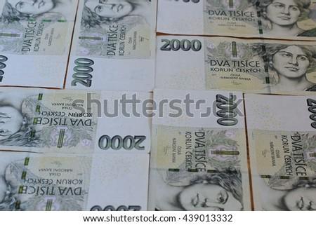 Czech crowns - stock photo
