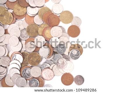 czech money background - stock photo