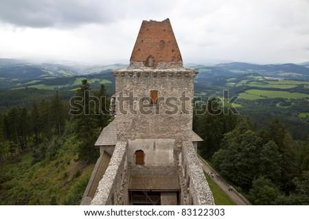 Czech Republic, Kashperski Gori Castle Kašperk - stock photo
