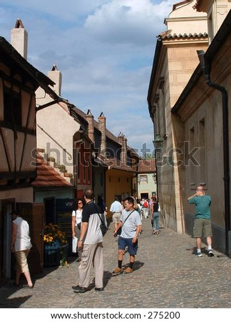 Czech Republic, Prague - People in Golden Lane