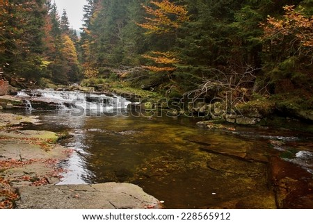 Czech Republic-view of the rapids of the river White Elbe