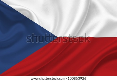 Czech Republic waving flag - stock photo
