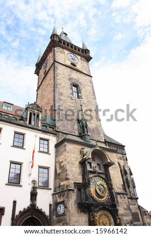 czech tower with clock