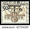 CZECHOSLOVAKIA - CIRCA 1984: The stamp printed in Czechoslovakia shows musical instruments, circa 1984 - stock photo