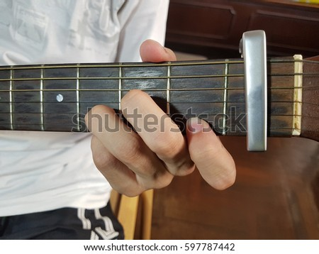 D Minor Chord Guitar Stock Photo Royalty Free 597787442 Shutterstock