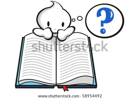 DaDa finding knowledge through reading a book. - stock photo