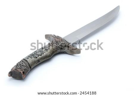 Dagger isolated on white - stock photo