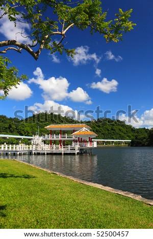 Dahu Park ,in Taipei Neihu, which is a famous resort,Taiwan - stock photo