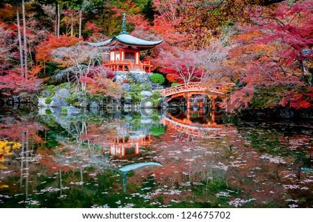 Daigoji Temple Japan - stock photo