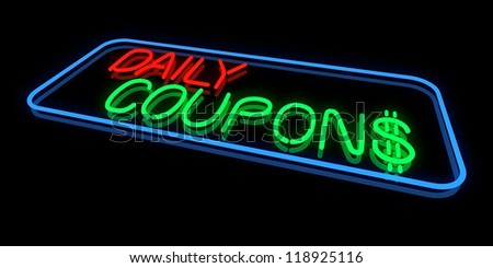 Daily Coupons - stock photo