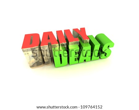 Daily Deals - stock photo