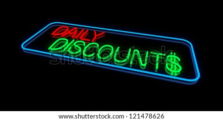 Daily Discounts - stock photo
