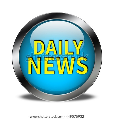 Daily News button isolated - stock photo