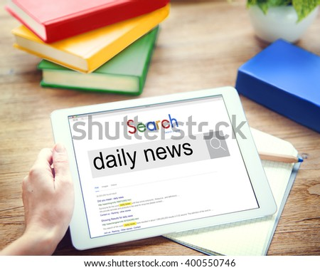 Daily News Communication Information Media Concept - stock photo