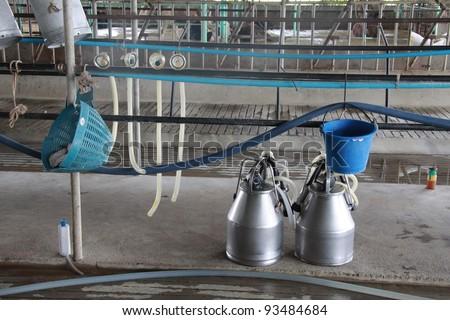 Dairy farm equipment - stock photo