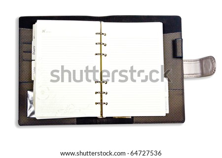 Dairy notebook isolate on white background - stock photo