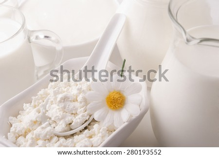 Dairy product - stock photo