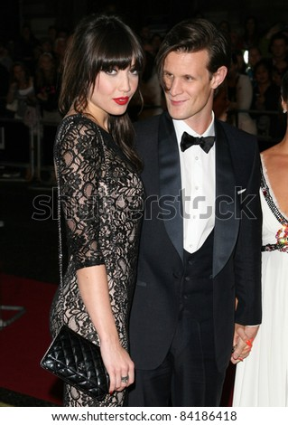 Daisy Lowe and Matt Smith arriving for the 2011 GQ Awards, Royal Opera House, London. 06/09/2011  Picture by: Alexandra Glen / Featureflash