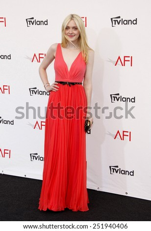 Dakota Fanning at the 40th AFI Life Achievement Award Honoring Shirley MacLaine held at the Sony Studios in Los Angeles, United States, 070612.  - stock photo