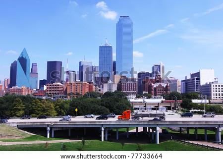Dallas cityscape - stock photo