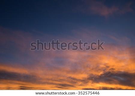 Dallas Divide Broncos Colors Sunset - stock photo