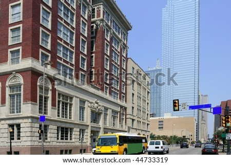 Dallas downtown city urban view with buildings - stock photo