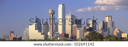 Dallas, Sunset, Texas - stock photo