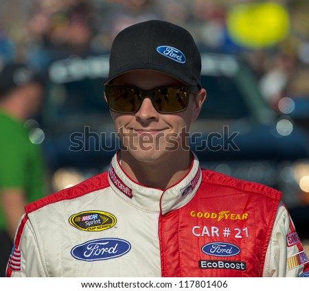 DALLAS, TX - NOVEMBER 04: Trevor Bayne at the Nascar Sprint Cup AAA Texas 500 at Texas Motorspeedway in Dallas, TX on November 04, 2012
