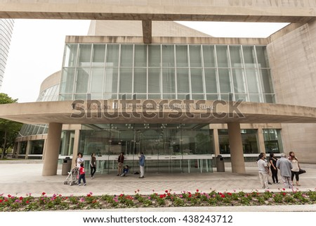 DALLAS, USA - APR 9, 2016: Morton H. Meyerson Symphony Center building in Dallas.  Texas, United States
