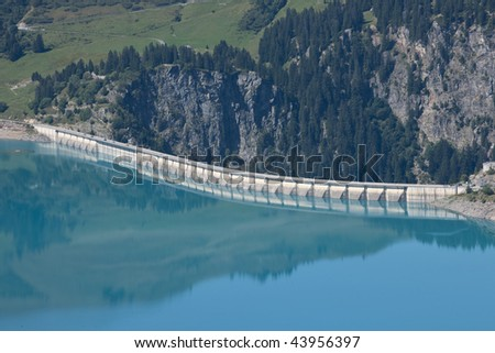 Dam in the french Alps, Areches