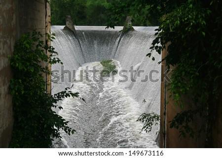 dam spillway , Thailand - stock photo