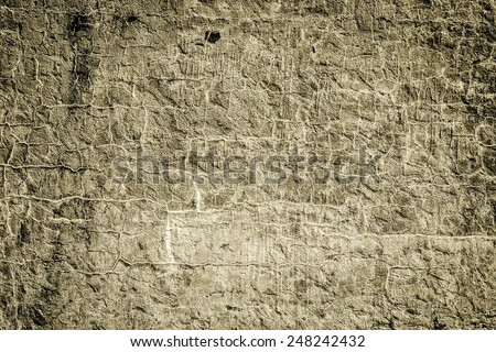 Damaged cement wall background with copy space for your design or text. - stock photo