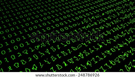 Damaged computer code - binary code can not be read. - stock photo