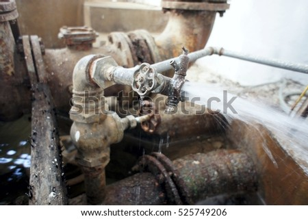 damaged water supply valve
