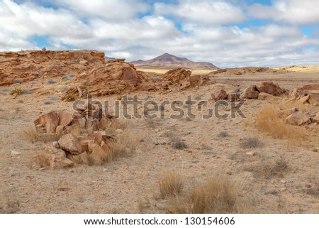 Damaraland Namibia, beautiful dry desolation.