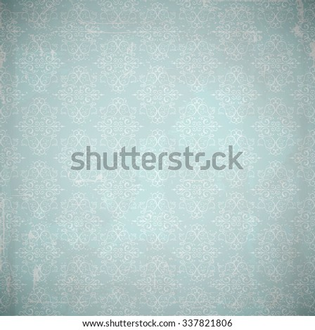Damask background. Grunge style with scratches. - stock photo