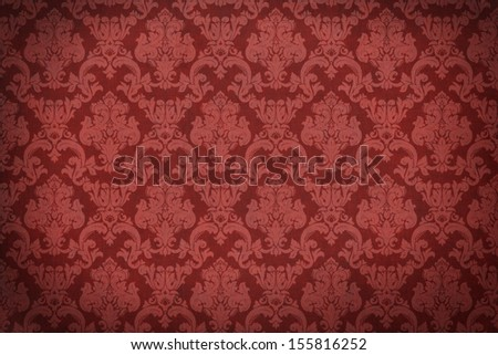 Damask background. Old wall. Glamour and fashion. Empty space for your design. - stock photo