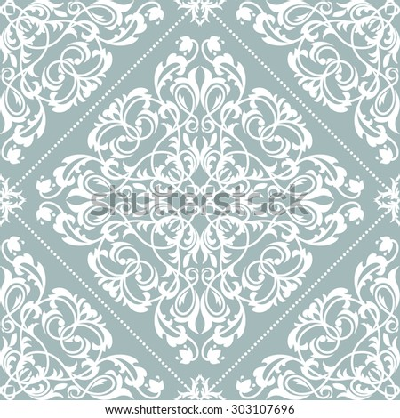 Damask seamless floral pattern. Royal  wallpaper. Floral background with pastel colors. - stock photo