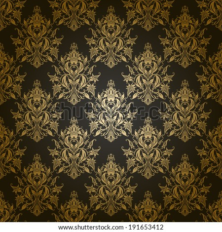 Damask seamless floral pattern. Royal wallpaper. Flowers on a gray background. Illustration.