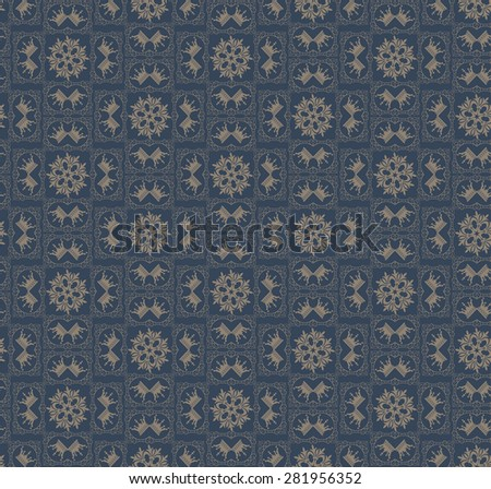 Damask wallpaper background in retro style for your design seamless pattern