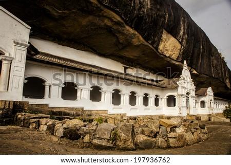 dambulla temple  in Sri Lanka - stock photo