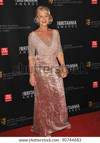 Dame Helen Mirren at the 2011 BAFTA/LA Britannia Awards at the Beverly Hilton Hotel. November 30, 2011  Beverly Hills, CA Picture: Paul Smith / Featureflash