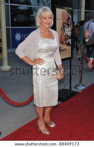 "Dame Helen Mirren at the Los Angeles premiere of her new movie ""Love Ranch"" at the Arclight Theatre, Hollywood. June 23, 2010  Los Angeles, CA Picture: Paul Smith / Featureflash"