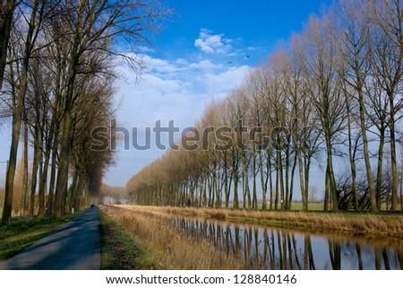 Damse Vaart, Belgium - stock photo
