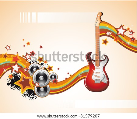 Dance and Music Event Background for poster or brochure - stock photo