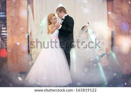 dance bride and groom - stock photo